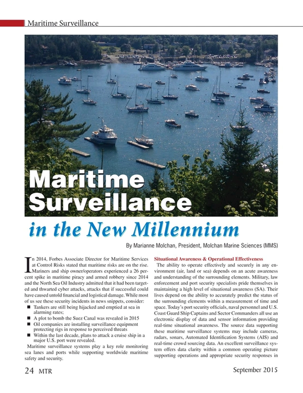Marine Technology Magazine, page 24,  Sep 2015