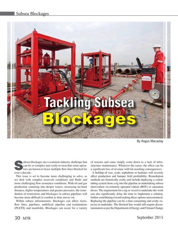Marine Technology Magazine, page 30,  Sep 2015