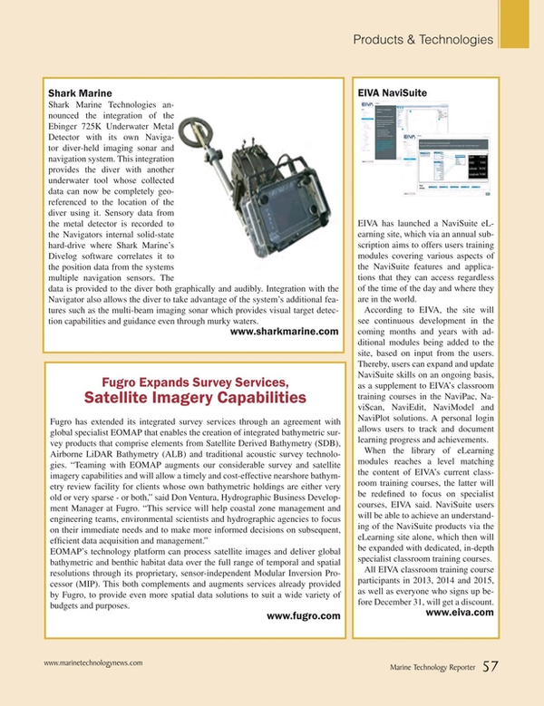 Marine Technology Magazine, page 57,  Sep 2015
