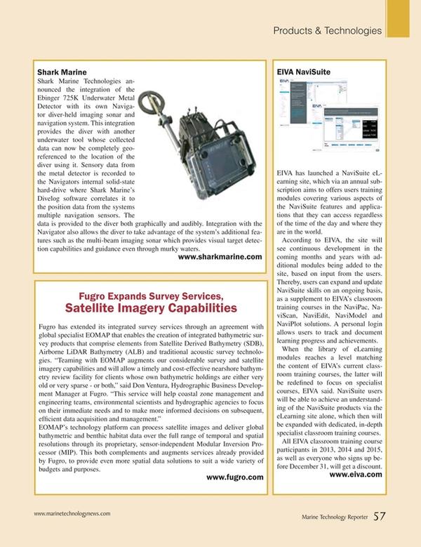 Marine Technology Magazine, page 57,  Sep 2015