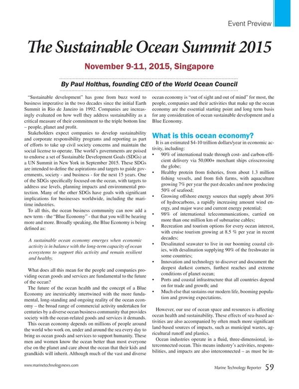 Marine Technology Magazine, page 59,  Sep 2015