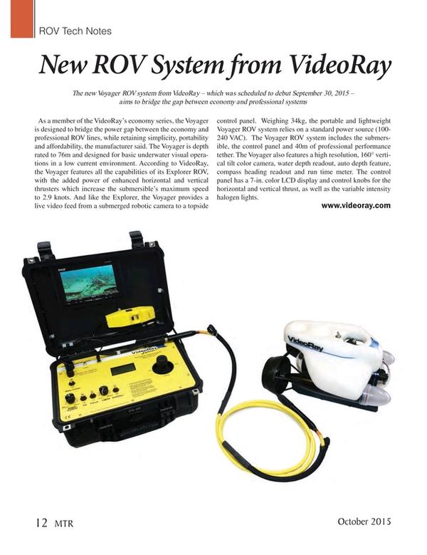 Marine Technology Magazine, page 12,  Oct 2015