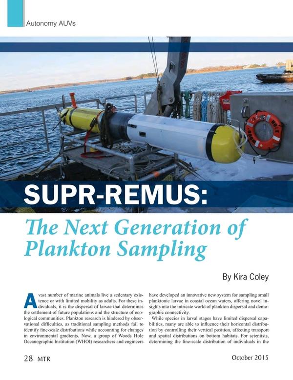 Marine Technology Magazine, page 28,  Oct 2015