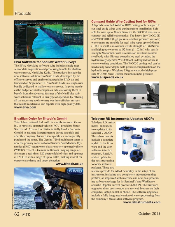 Marine Technology Magazine, page 62,  Oct 2015