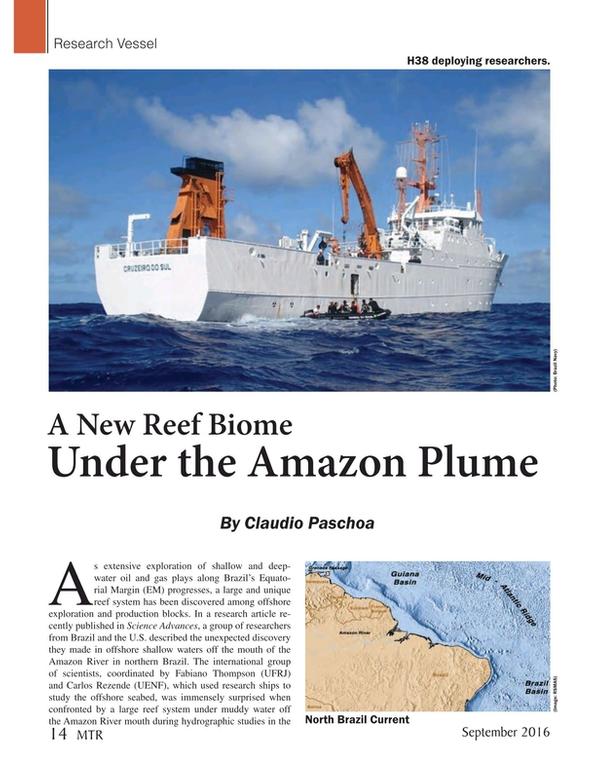 Marine Technology Magazine, page 14,  Sep 2016