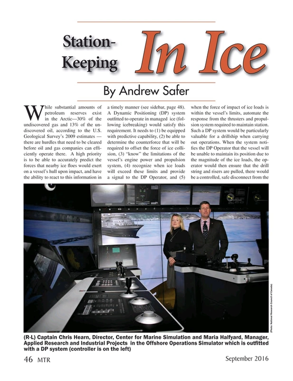 Marine Technology Magazine, page 46,  Sep 2016