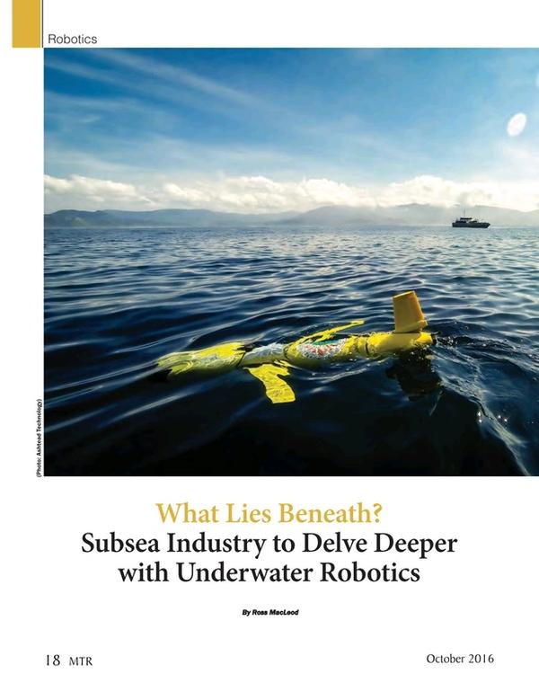 Marine Technology Magazine, page 18,  Oct 2016