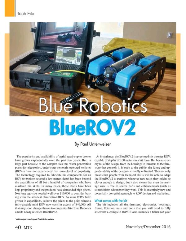 Marine Technology Magazine, page 40,  Nov 2016