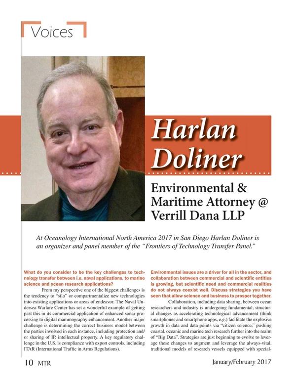 Marine Technology Magazine, page 10,  Jan 2017