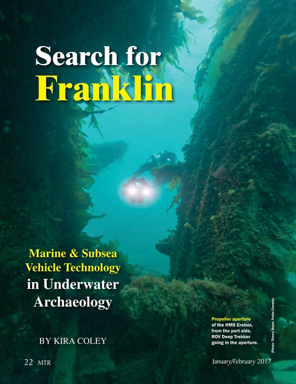 Marine Technology Magazine, page 22,  Jan 2017