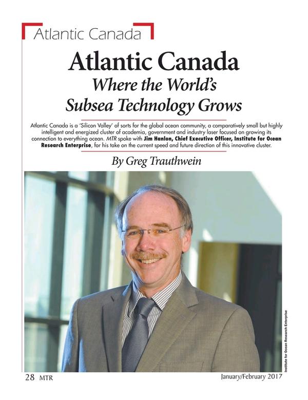 Marine Technology Magazine, page 28,  Jan 2017