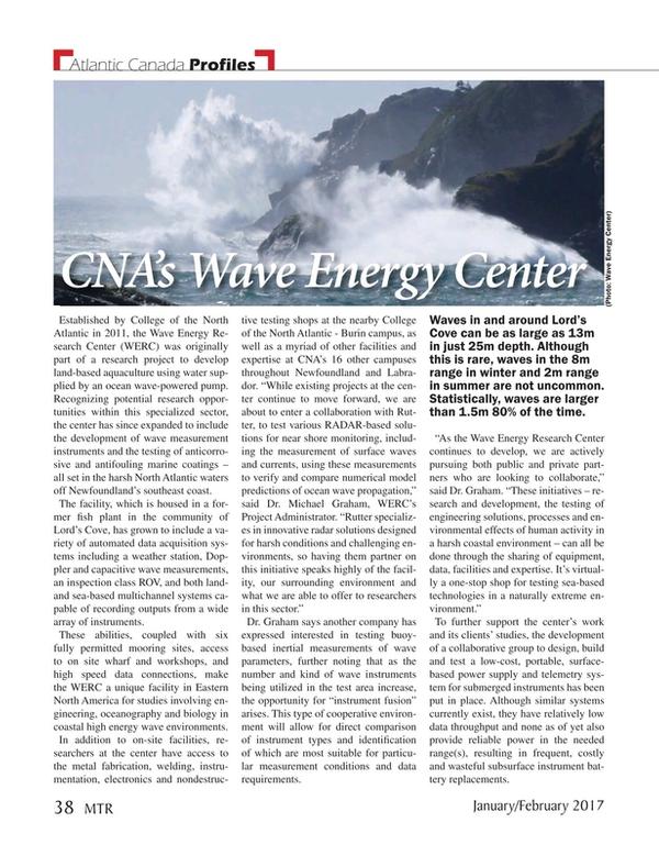 Marine Technology Magazine, page 38,  Jan 2017