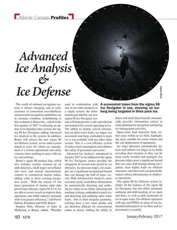 Marine Technology Magazine, page 40,  Jan 2017
