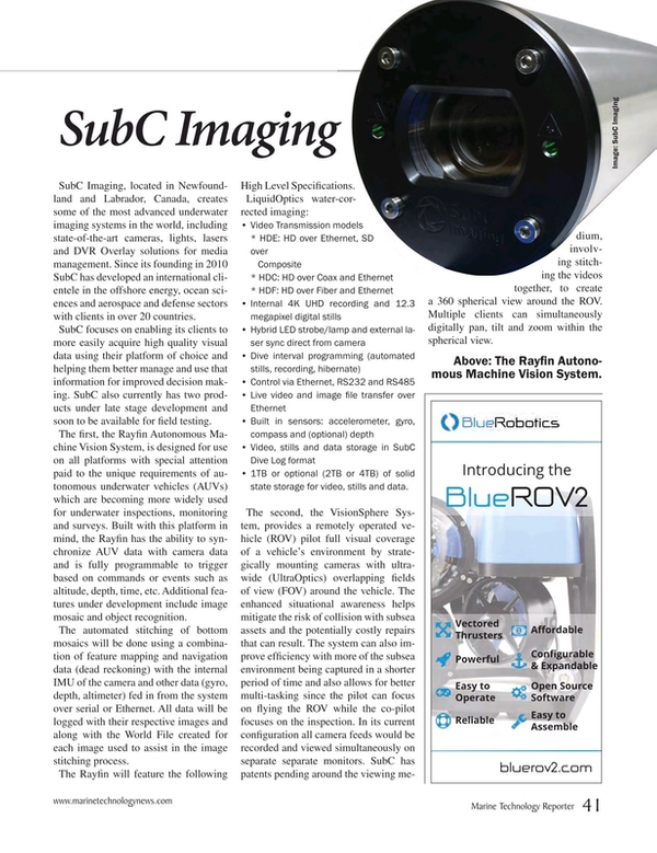 Marine Technology Magazine, page 41,  Jan 2017