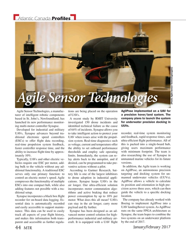 Marine Technology Magazine, page 44,  Jan 2017
