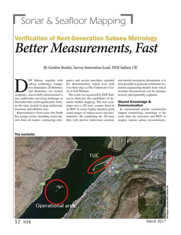 Marine Technology Magazine, page 52,  Mar 2017