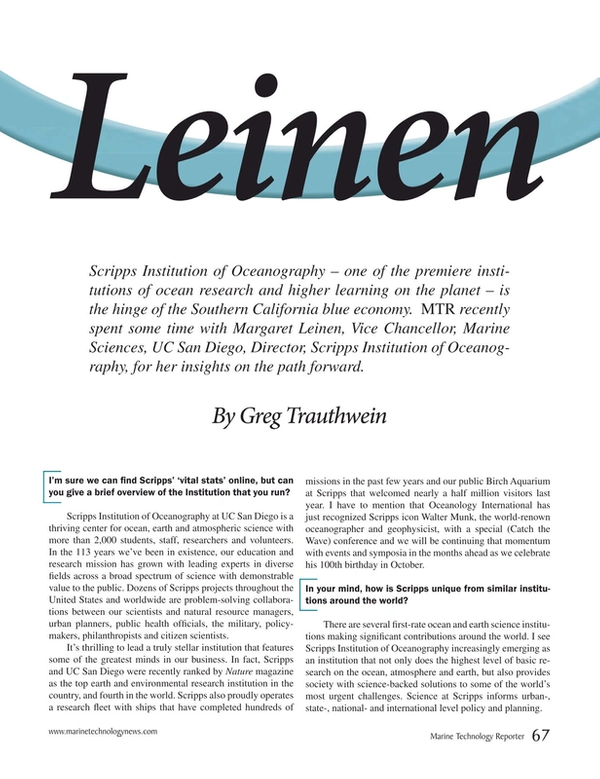 Marine Technology Magazine, page 67,  Mar 2017