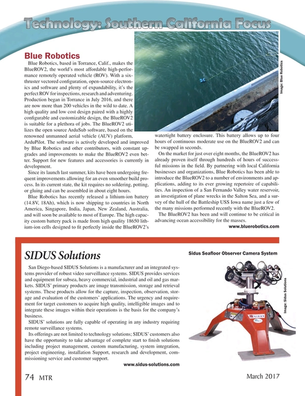 Marine Technology Magazine, page 74,  Mar 2017