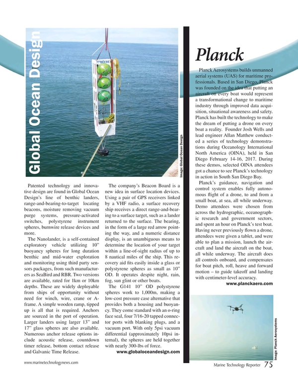 Marine Technology Magazine, page 75,  Mar 2017