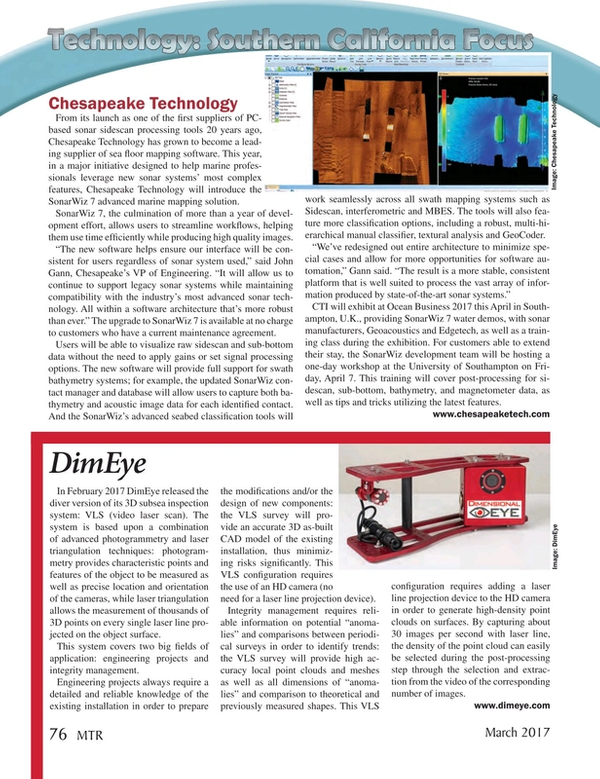 Marine Technology Magazine, page 76,  Mar 2017