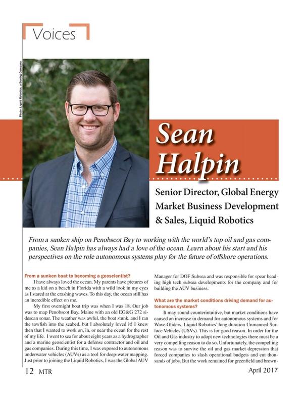 Marine Technology Magazine, page 12,  Apr 2017