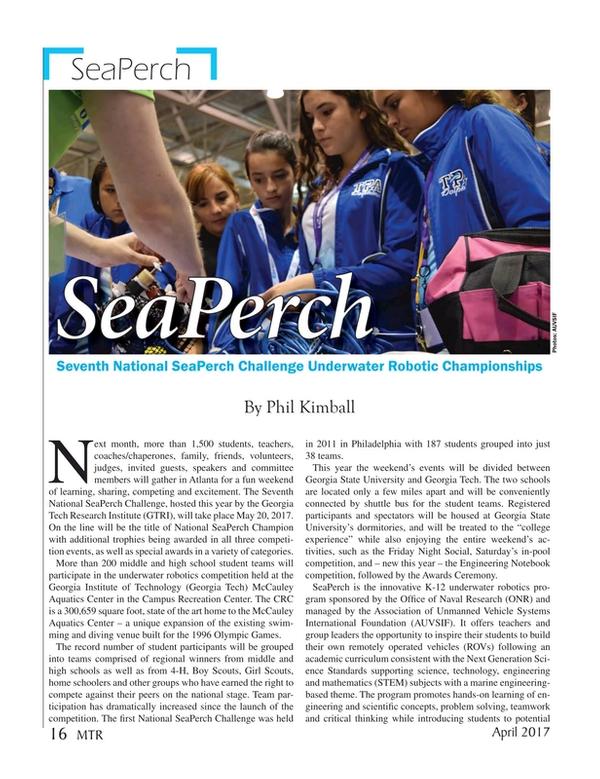 Marine Technology Magazine, page 16,  Apr 2017