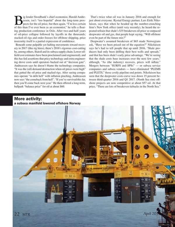 Marine Technology Magazine, page 22,  Apr 2017