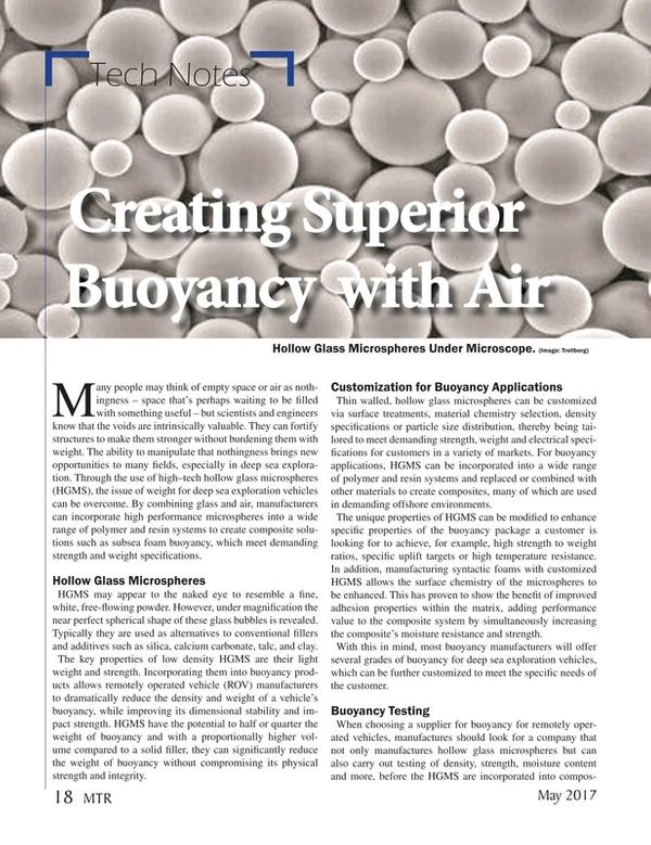 Marine Technology Magazine, page 18,  May 2017