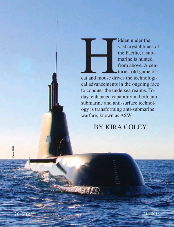 Marine Technology Magazine, page 26,  May 2017