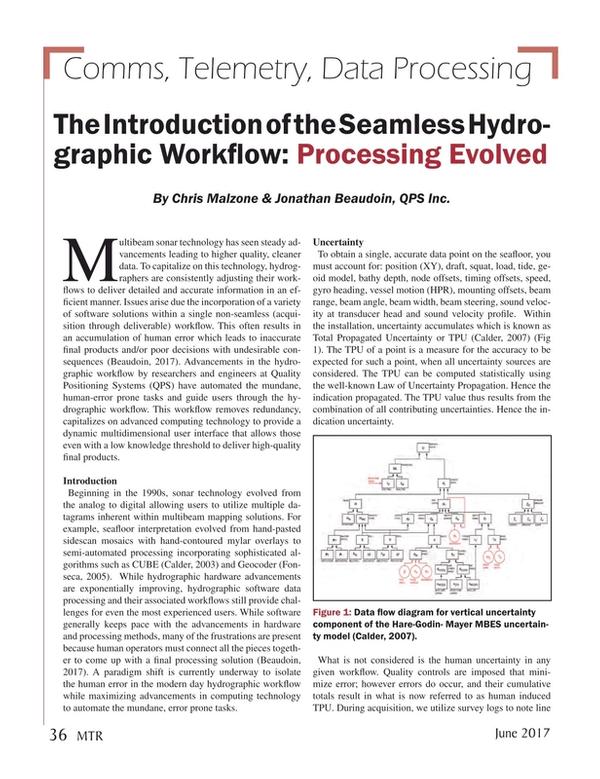 Marine Technology Magazine, page 36,  Jun 2017