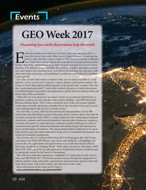 Marine Technology Magazine, page 10,  Sep 2017