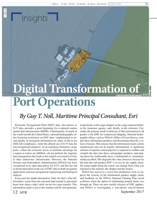 Marine Technology Magazine, page 12,  Sep 2017