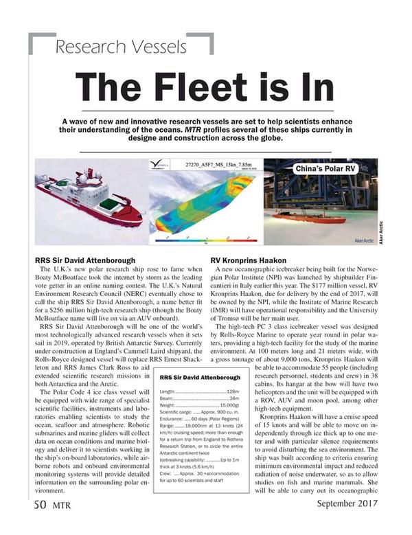 Marine Technology Magazine, page 50,  Sep 2017