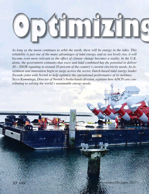 Marine Technology Magazine, page 30,  Nov 2017