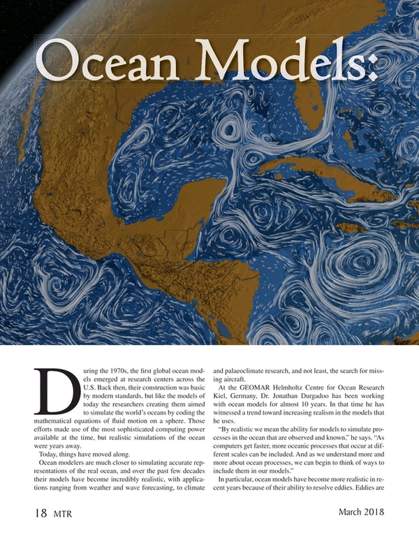 Marine Technology Magazine, page 18,  Mar 2018