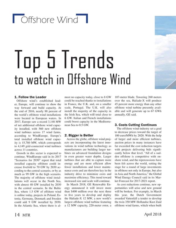 Marine Technology Magazine, page 14,  Apr 2018
