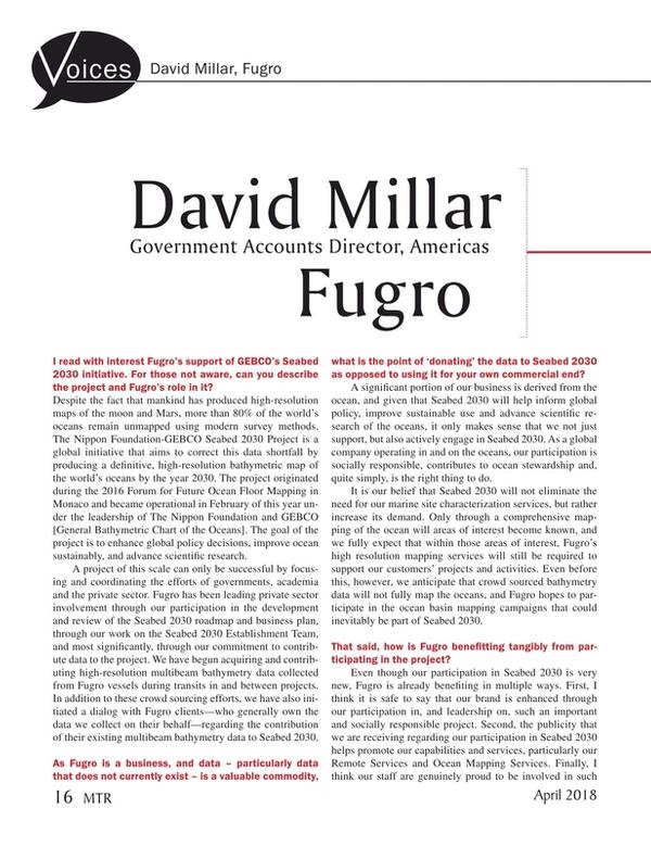 Marine Technology Magazine, page 16,  Apr 2018