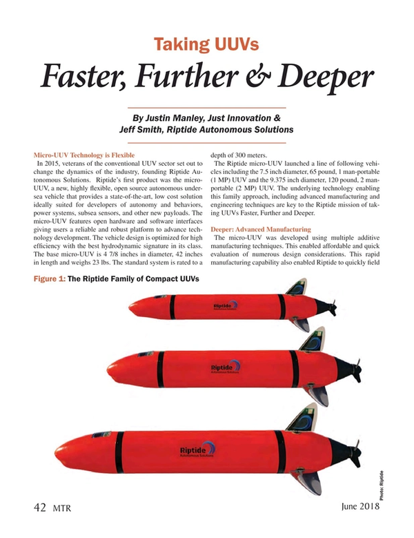 Marine Technology Magazine, page 42,  Jun 2018