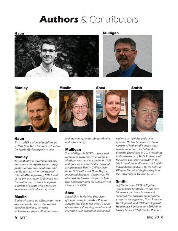 Marine Technology Magazine, page 6,  Jun 2018