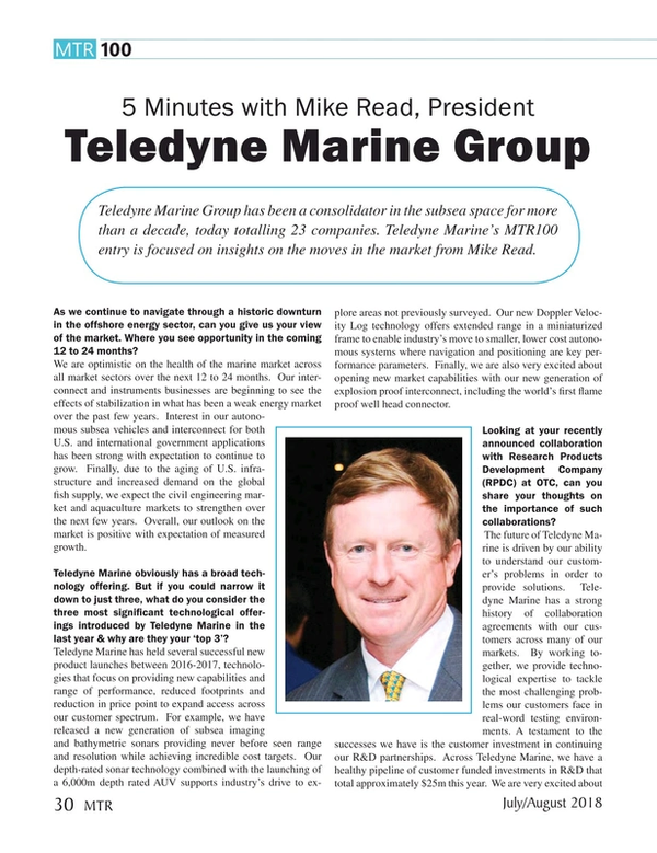 Marine Technology Magazine, page 30,  Jul 2018