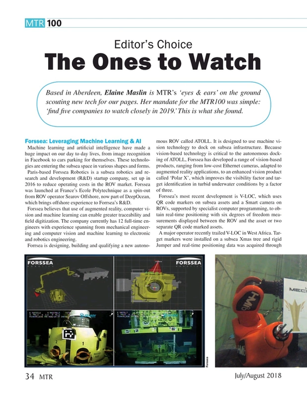 Marine Technology Magazine, page 34,  Jul 2018