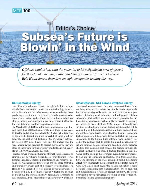 Marine Technology Magazine, page 62,  Jul 2018