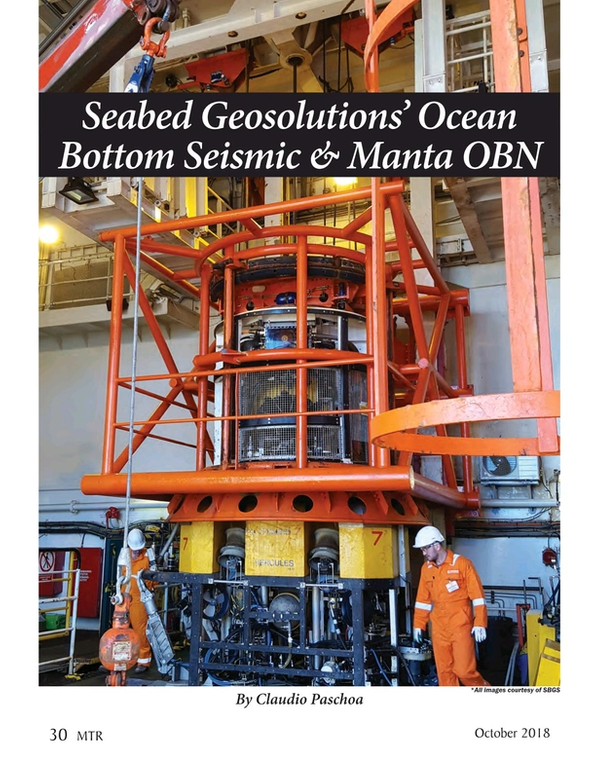 Marine Technology Magazine, page 30,  Oct 2018