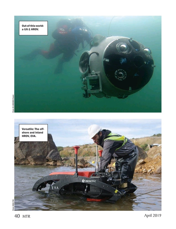 Marine Technology Magazine, page 40,  Apr 2019