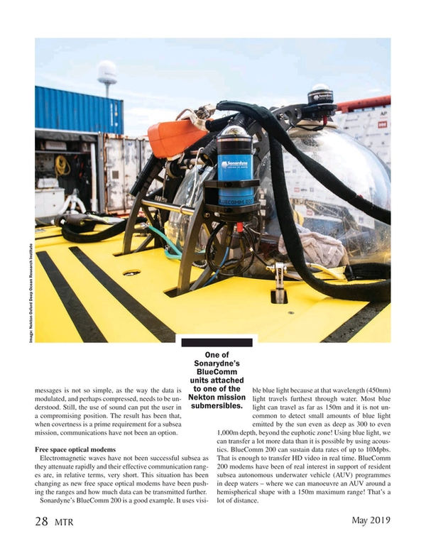 Marine Technology Magazine, page 28,  May 2019