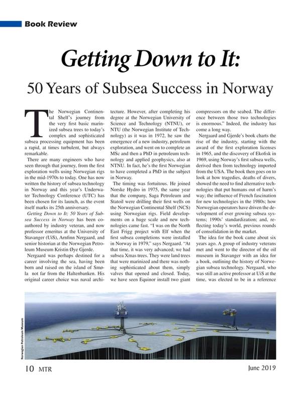 Marine Technology Magazine, page 10,  Jun 2019