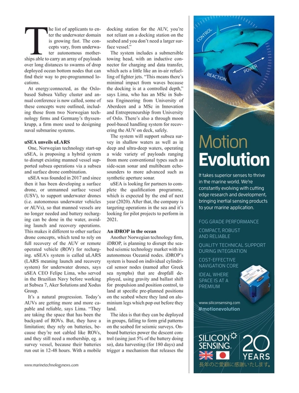 Marine Technology Magazine, page 21,  Jun 2019