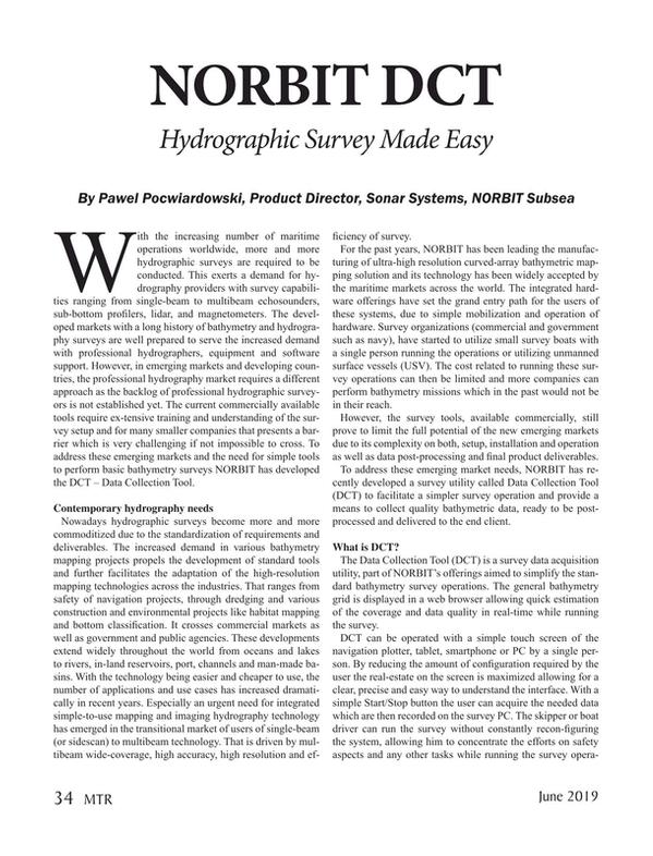 Marine Technology Magazine, page 34,  Jun 2019