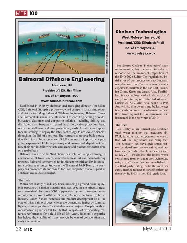 Marine Technology Magazine, page 22,  Jul 2019