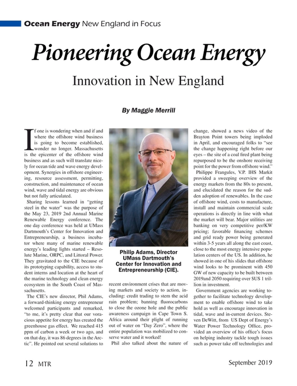 Marine Technology Magazine, page 12,  Sep 2019